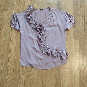 Magaschoni silk ruffle blouse, 10